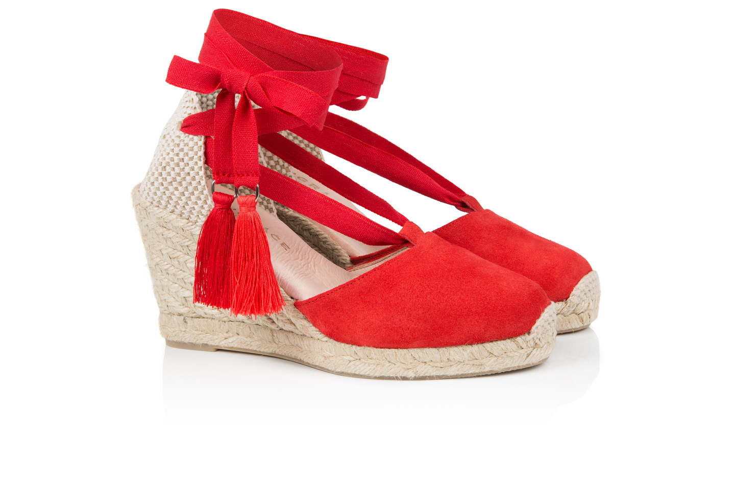 Shimmie Red Espadrilles | Air & Grace