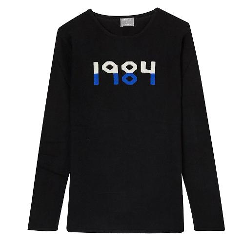 Orwell 1984 sweater in black