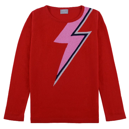 Bowie Sweater in red