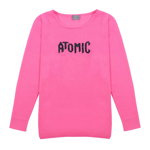 Atomic sweater in Neon Pink