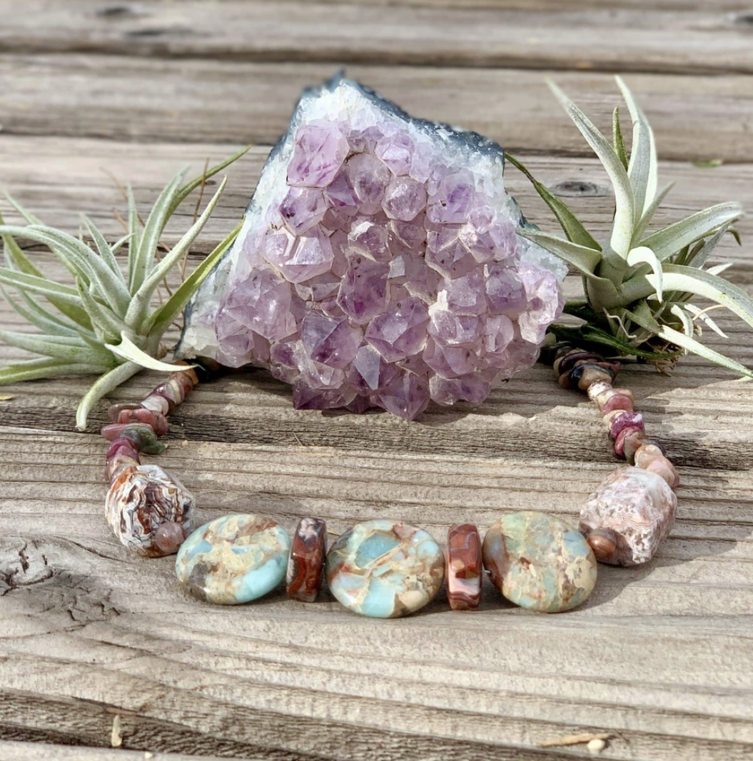 Agate with Jasper Necklace