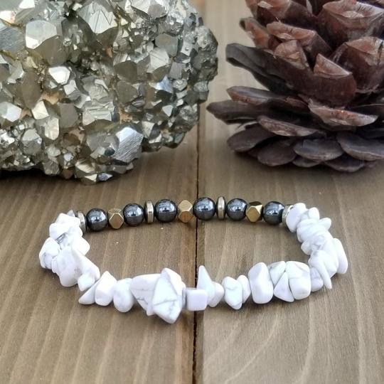 Hematite, Howlite, Pyrite Bracelet