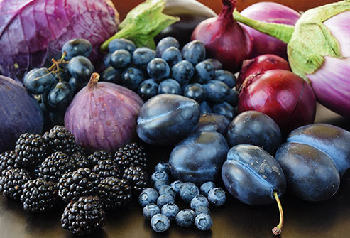 Red, Blue, & Purple Fruit & Vegetables are high in Anthocyanins