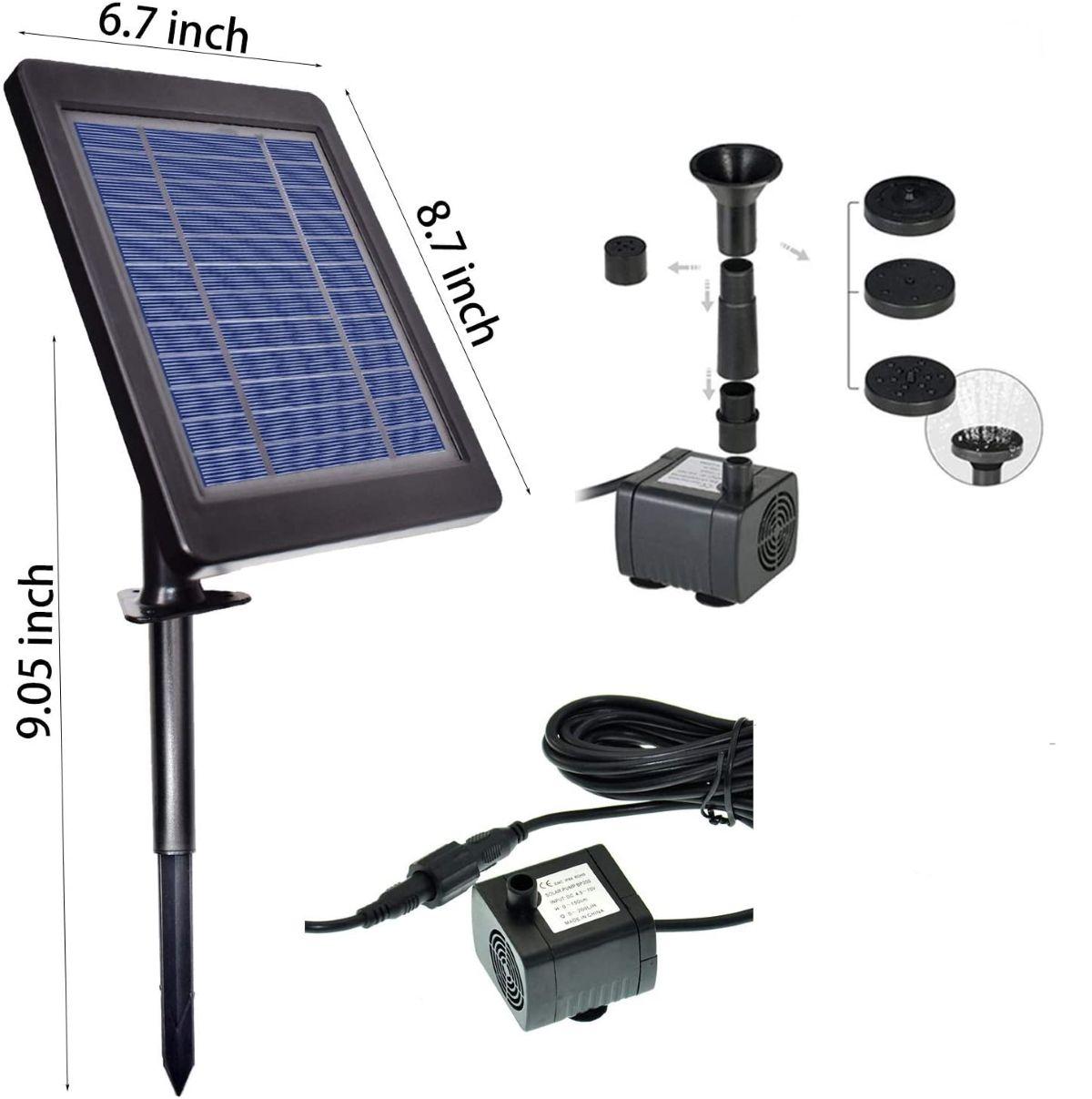 Solar mini pump for pond