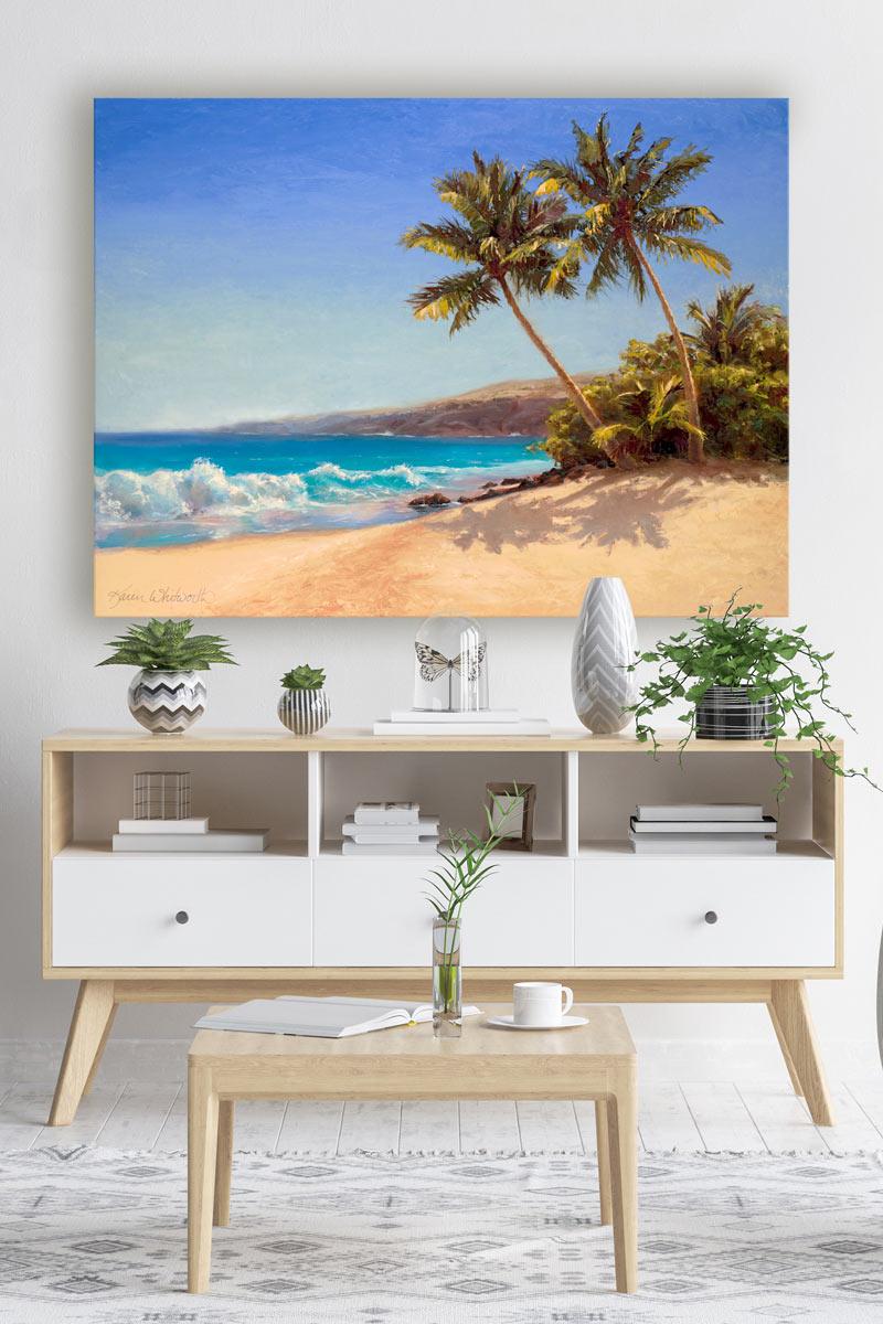 Coastal home beach house wall art canvas