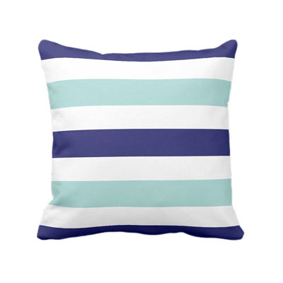 Two tone blue and teal accent throw pillow - affiliate link