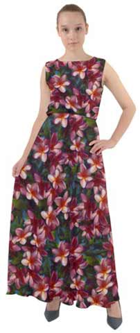 Hawaiian Flower Print Maxi Dress Available in XS to Plus Size 3XL