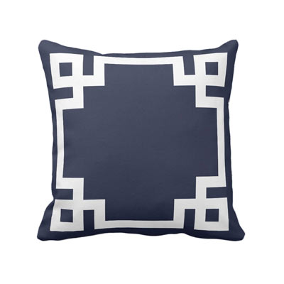 Classic blue and white coastal beach house accent throw pillow - affiliate link