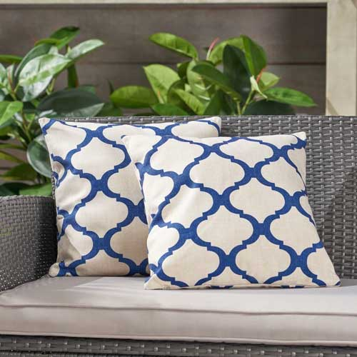 Outdoor classic blue throw pillow - affiliate link
