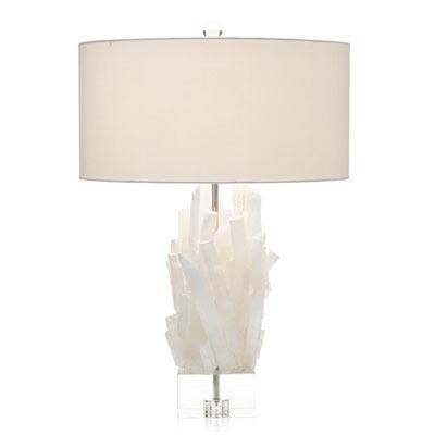 Click to view white selenite table lamp designer home decor - affiliate llink