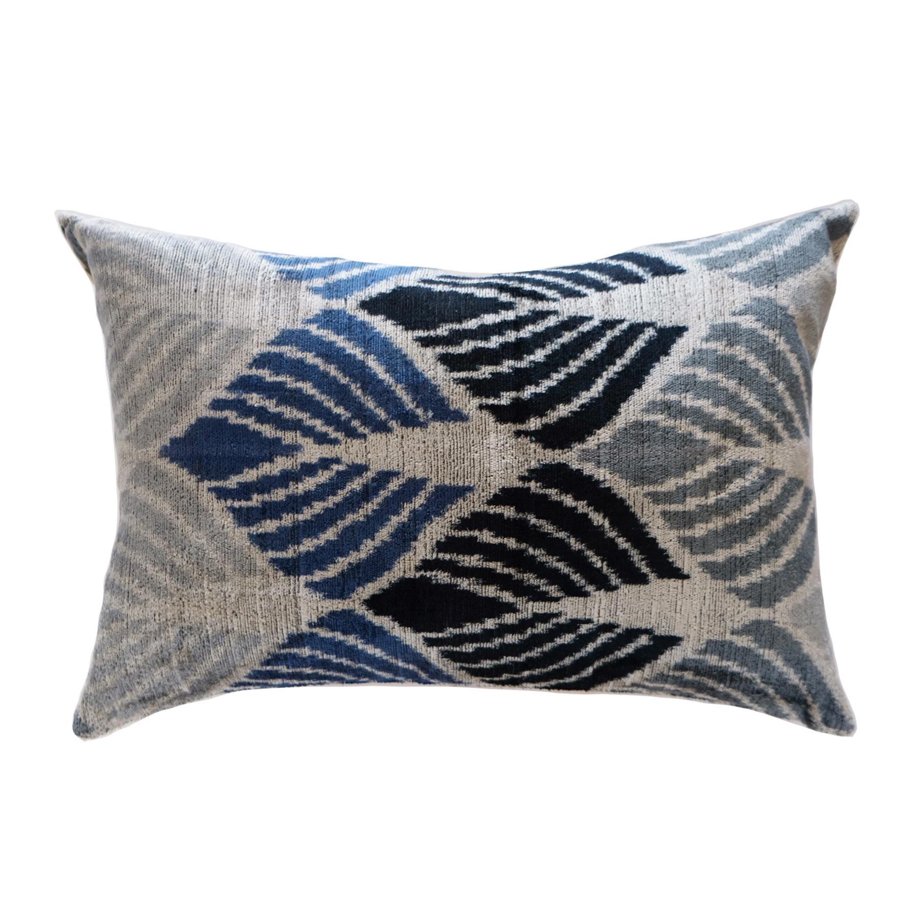 Classic blue silk accent lumbar throw pillow - affiliate link