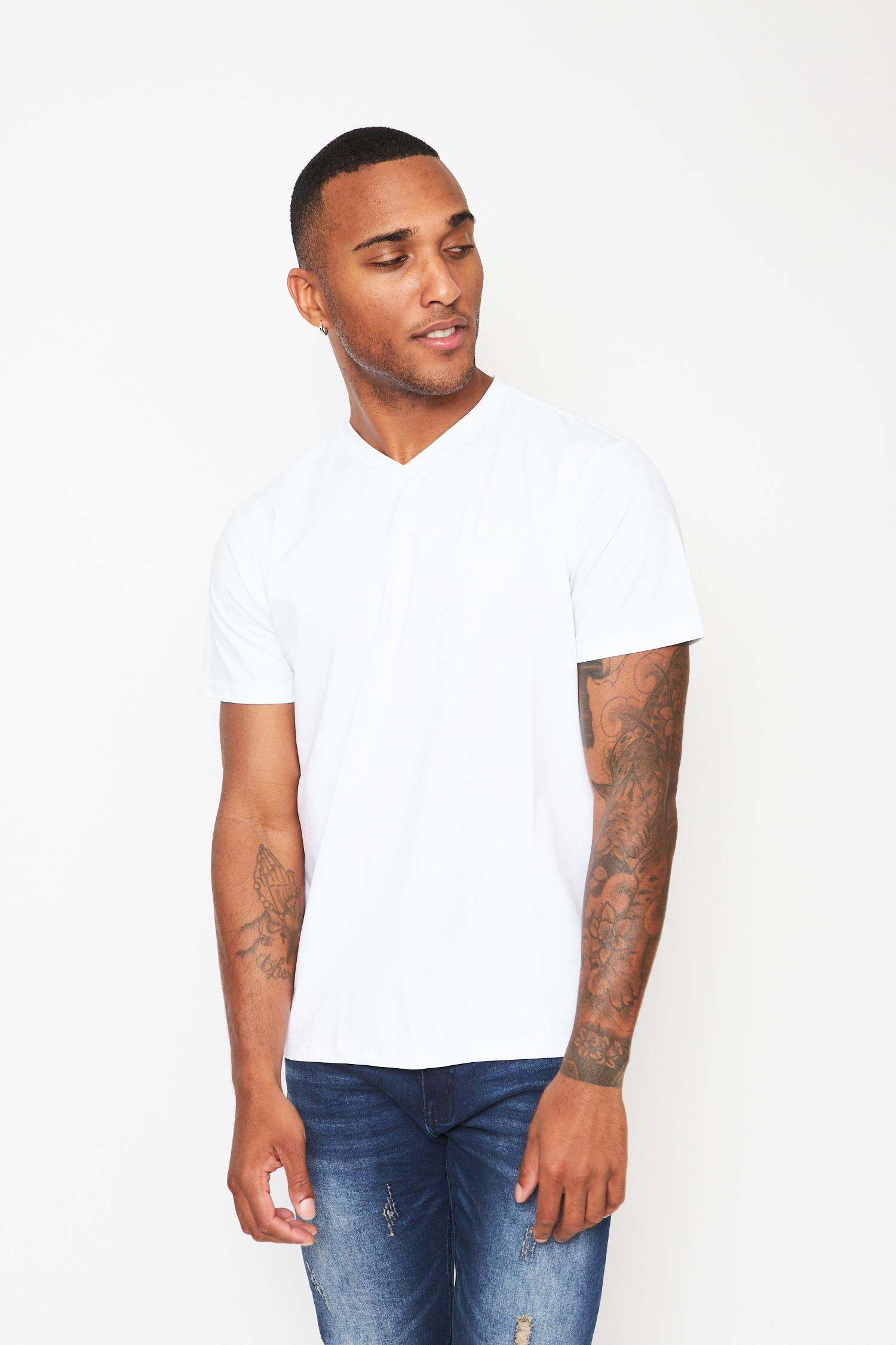 everyday basics white v-neck t-shirt