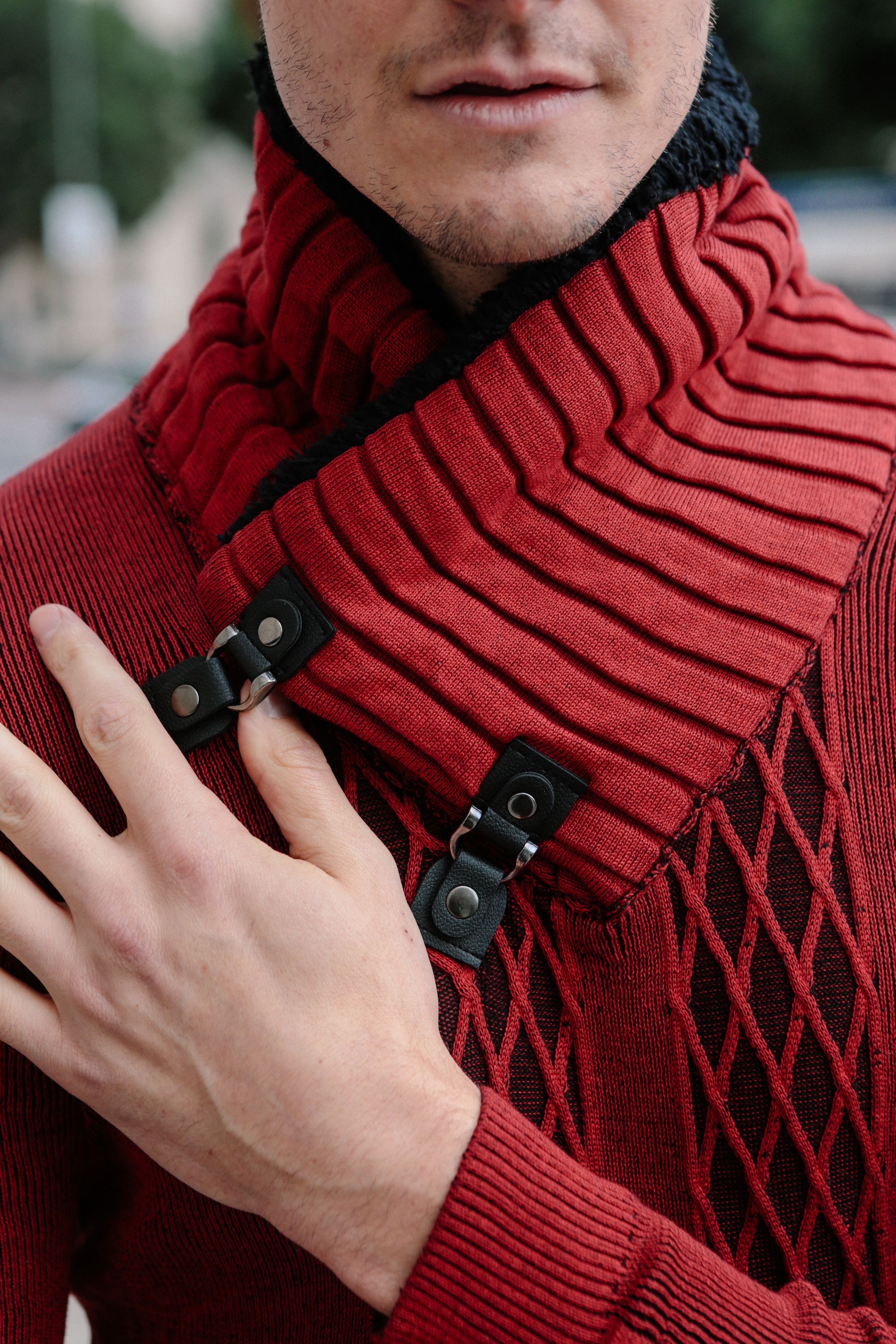 red sweater for men