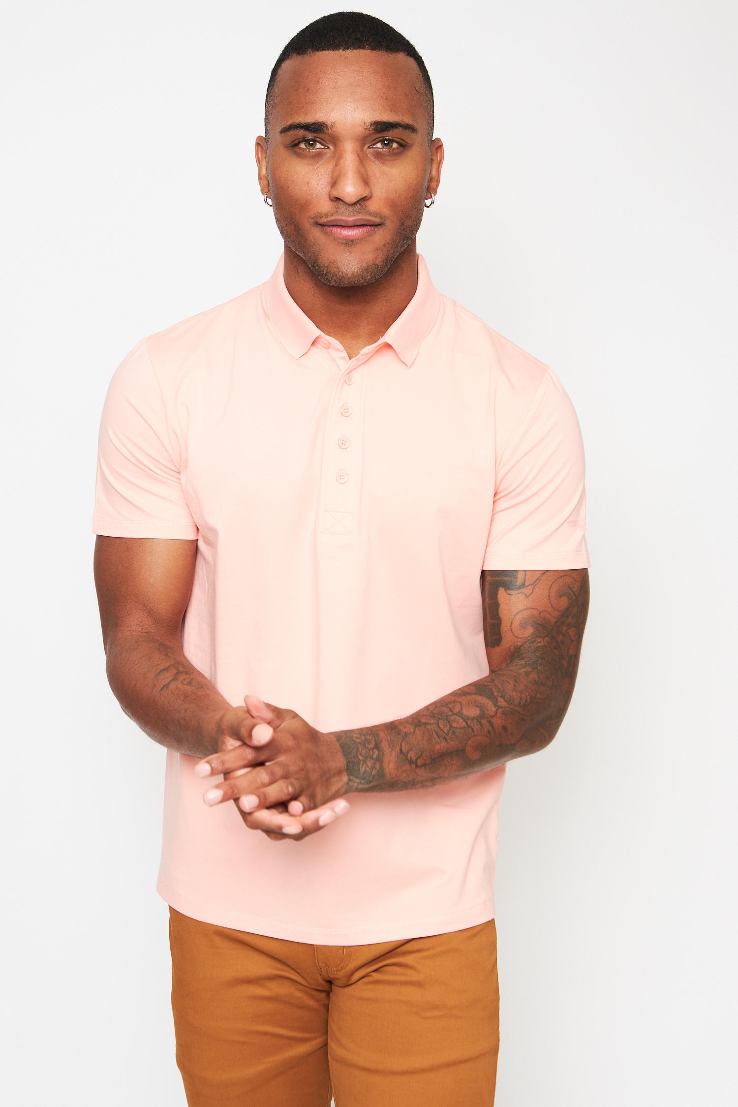 everyday basics baby pink polo t-shirt