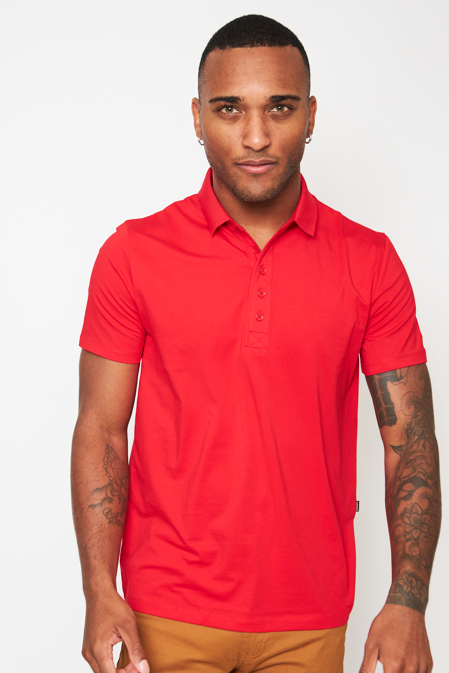 everyday basics red polo t-shirt