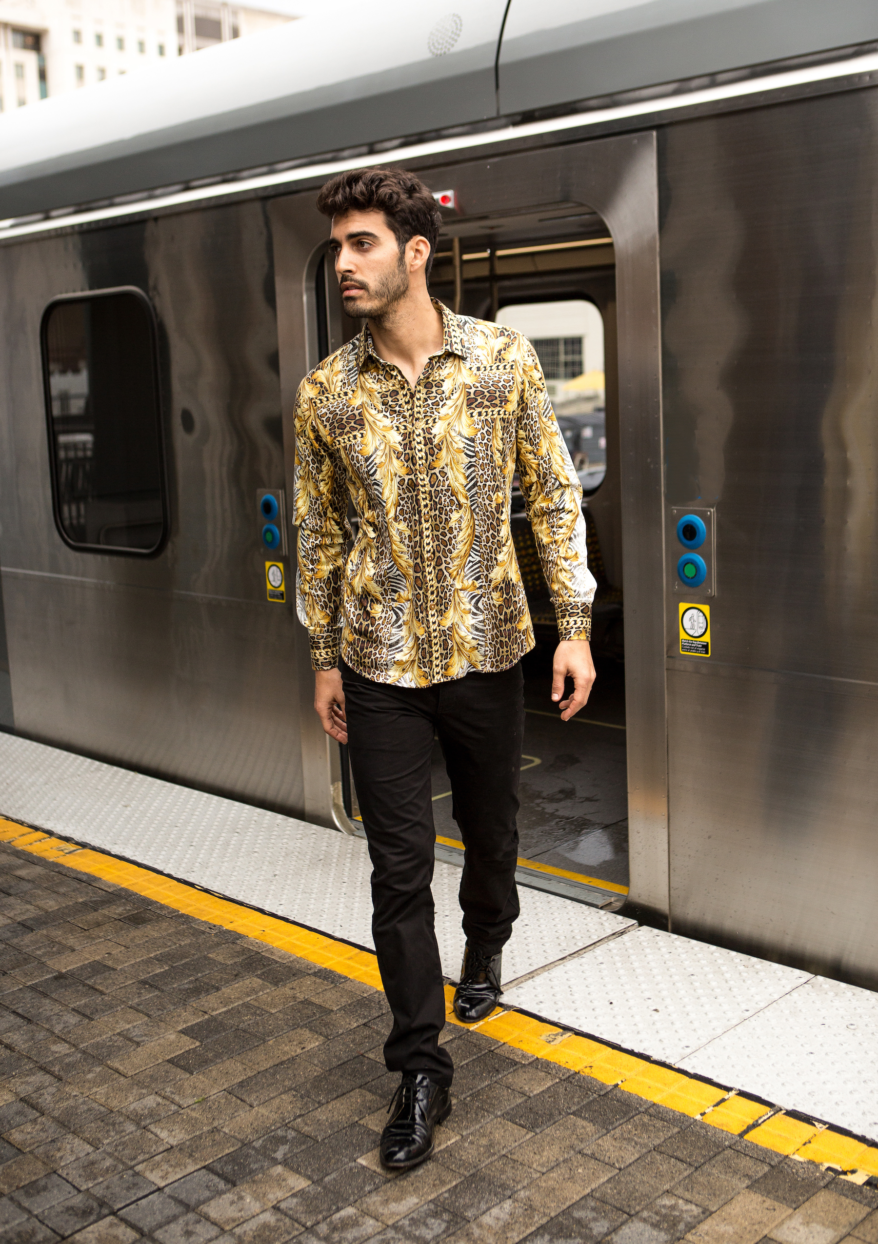 leopard printed shirt