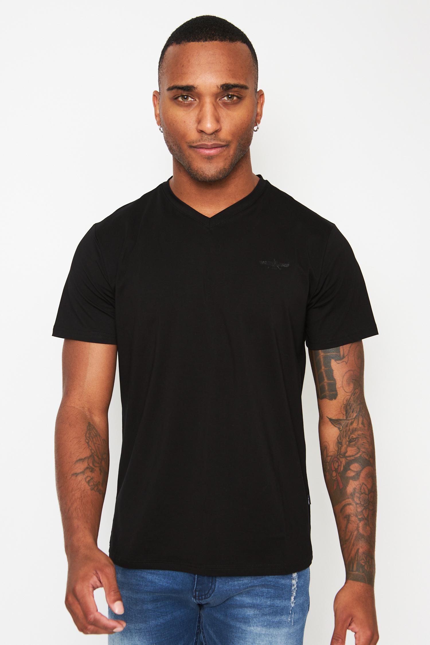 everyday basics black v-neck t-shirt