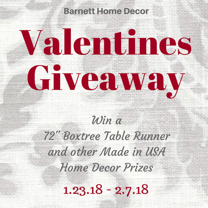 Barnett Home Decor Valentines Giveaway Pinterest