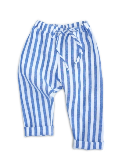 Beya Made blue and white striped pants