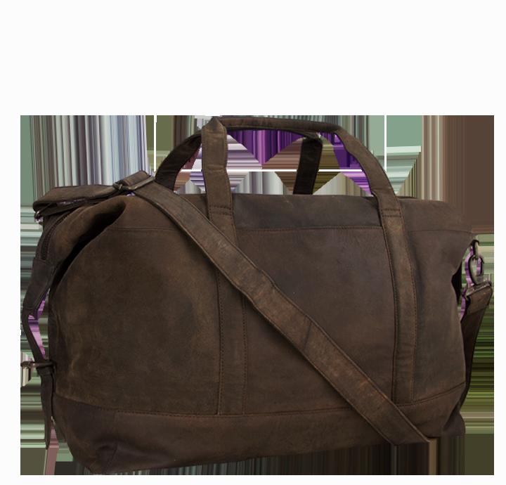 Smart og flot weekendtaske rustik rejsetaske i vegetabilsk garvet læder stilrent og smukt dansk design i læder taske til ferie rejsetaske i læder til mænd og kvinder Aarhus taskebutik og lædervarer
