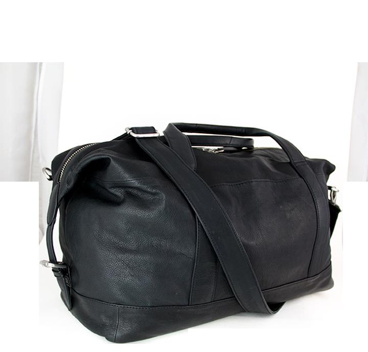 Flot og praktisk weekendtaske rejsetaske til mænd og kvinder smukt og stilrent dansk design funktionel lille rejsetaske til håndbagage sportstaske i læder
