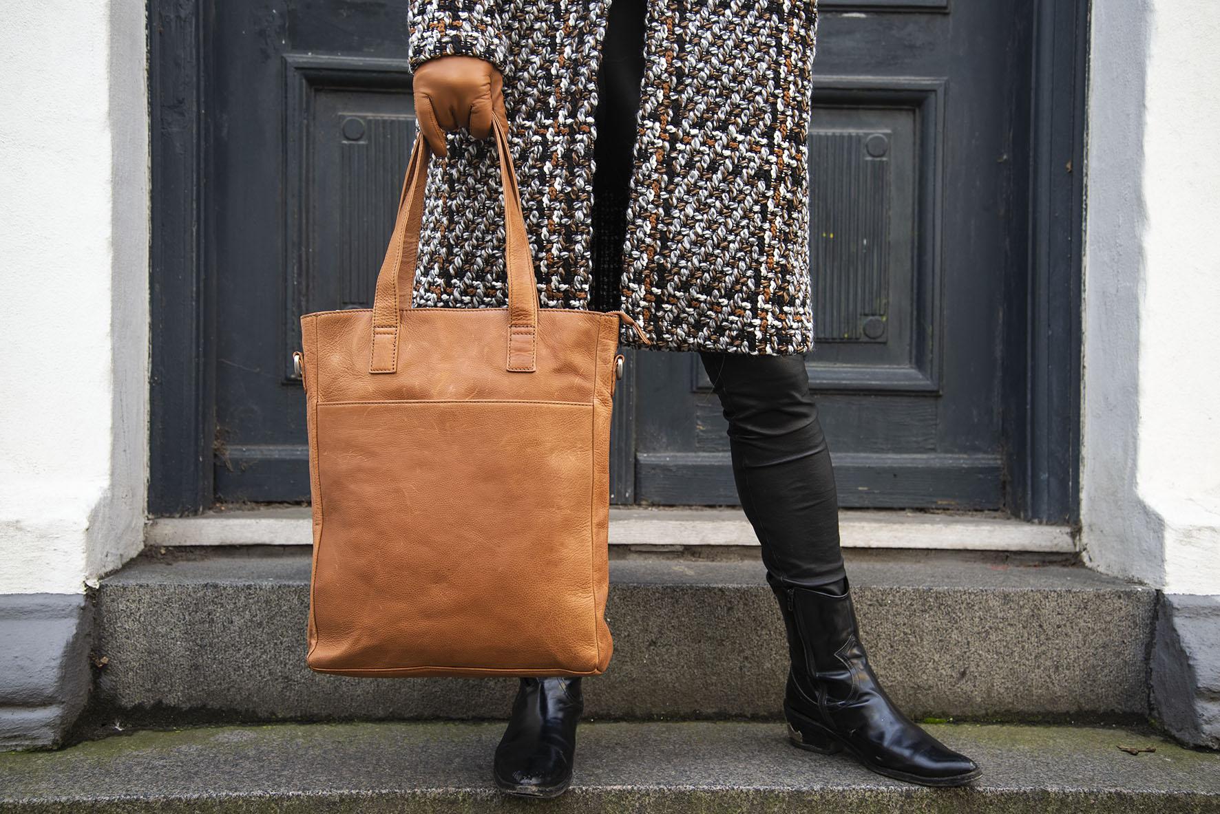 Firenze shopper skuldertaske brunt læder