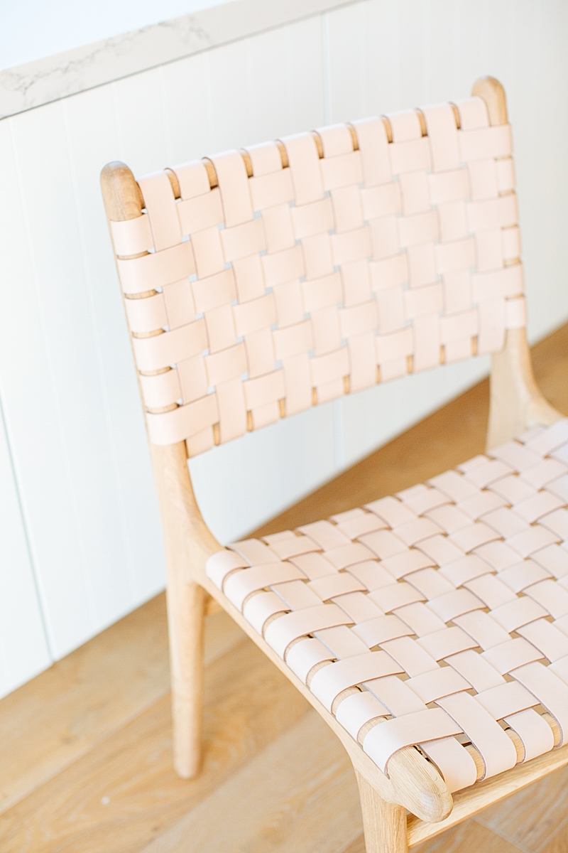 Woven Leather Dining Chairs