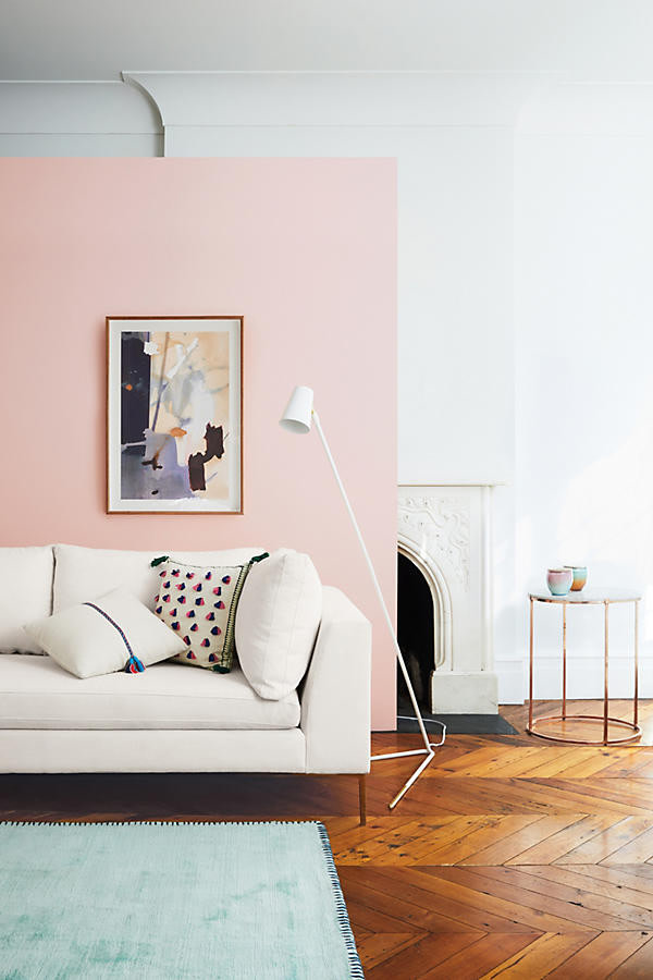 Blush Accent Wall