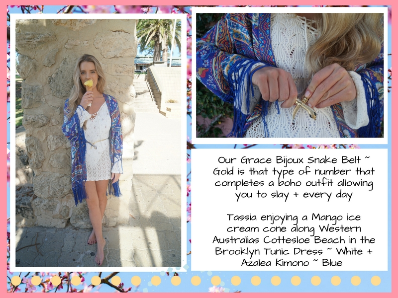 Bohemian Love Runway ~ Azalea Kimono Blue