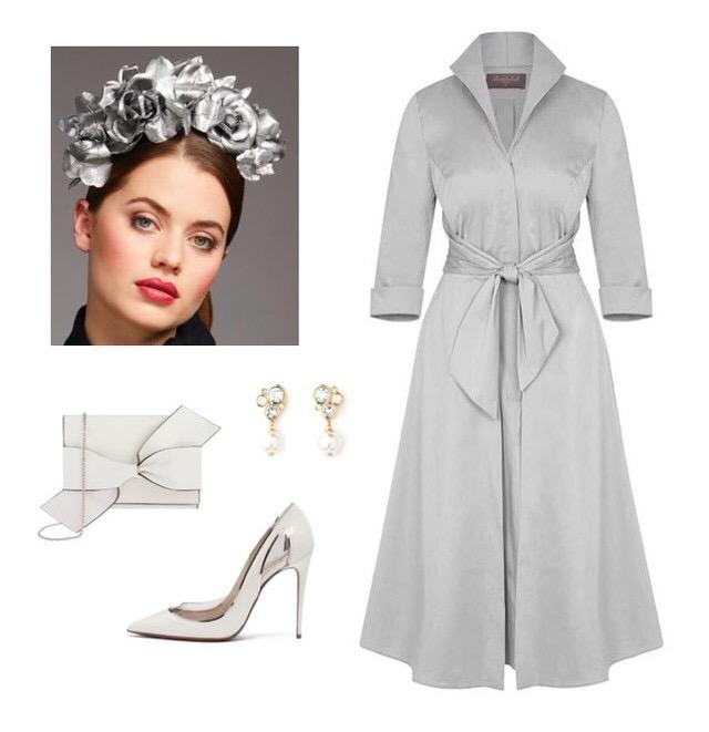 Silver Birch Grace Tie Front Shirt Dress
