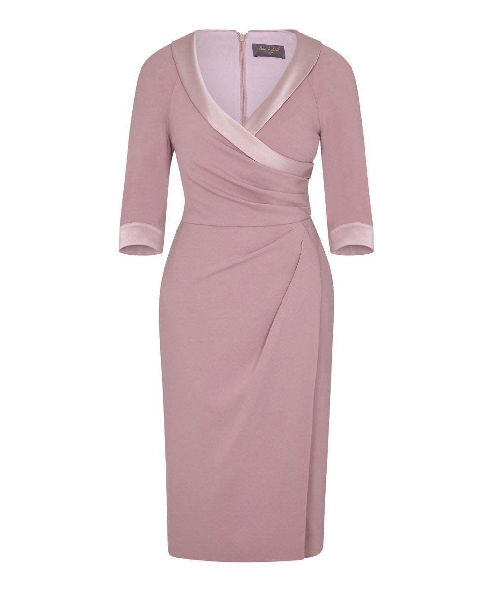 Invitation Cinder Rose Collar Sarong Dress