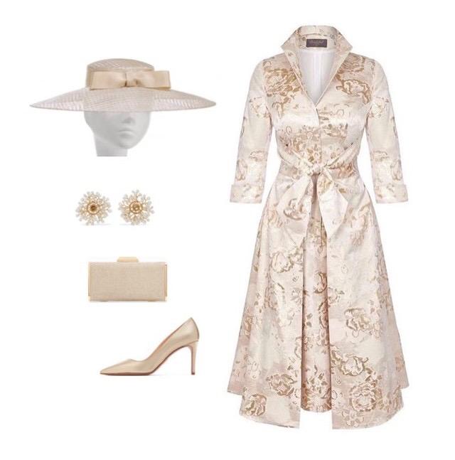 Gold GRACE Tie Front Shirt Dress