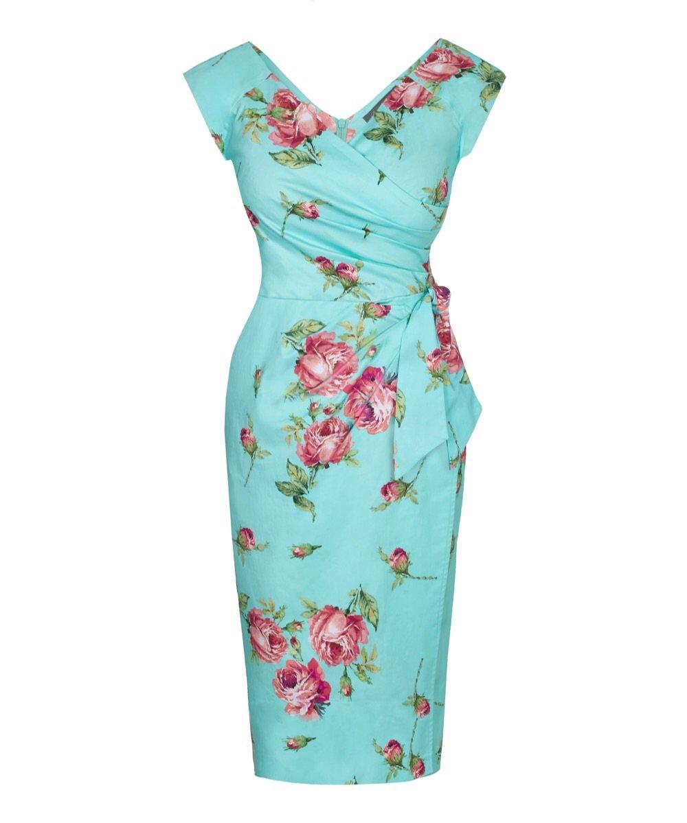 Portobello Roses Confident Bombshell Cap Sleeve Dress