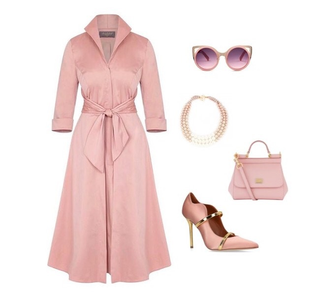 Cinder Rose Grace Tie Front Shirt Dress