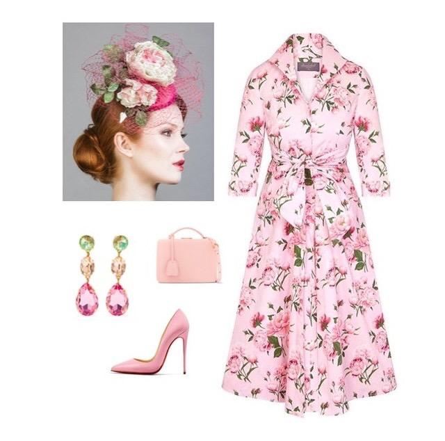 Pink Peony Grace Tie Front Shirt Dress