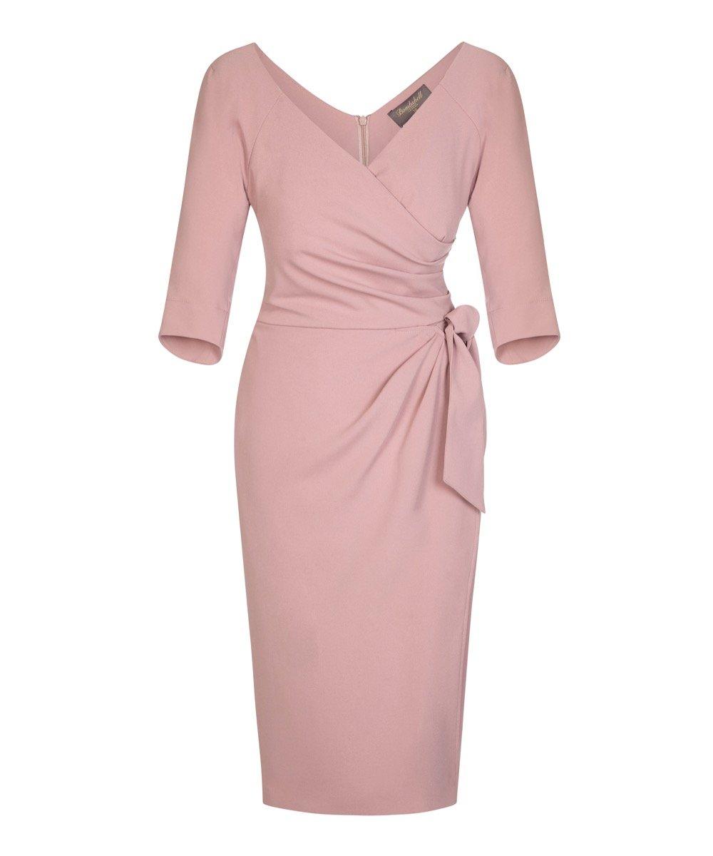 Cinder Rose 3/4 Sleeve Bombshell Confident Dress