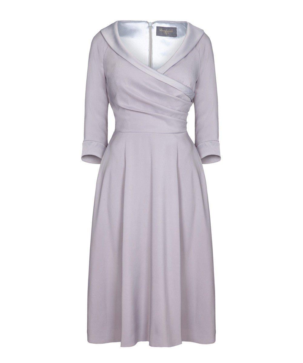 Invitation Dove Grey Flare Bombshell Dress