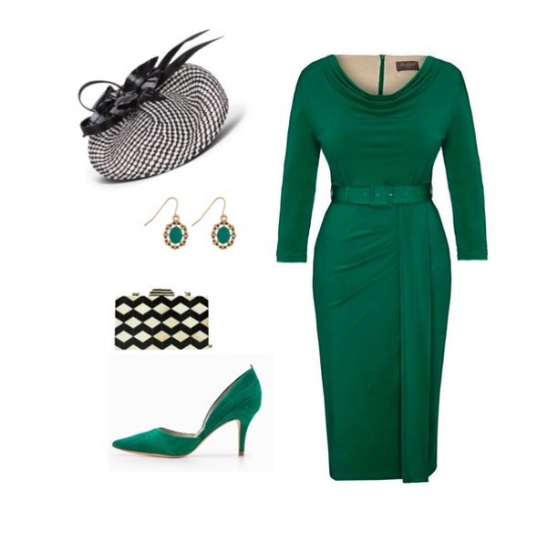 Dark Green Bombshell 'Stretch Luxe' Scoop Neck 3/4 Sleeve Jersey Dress