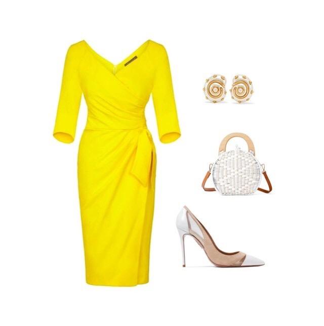 Yellow Bombshell 3/4 Sleeve Confident Dress