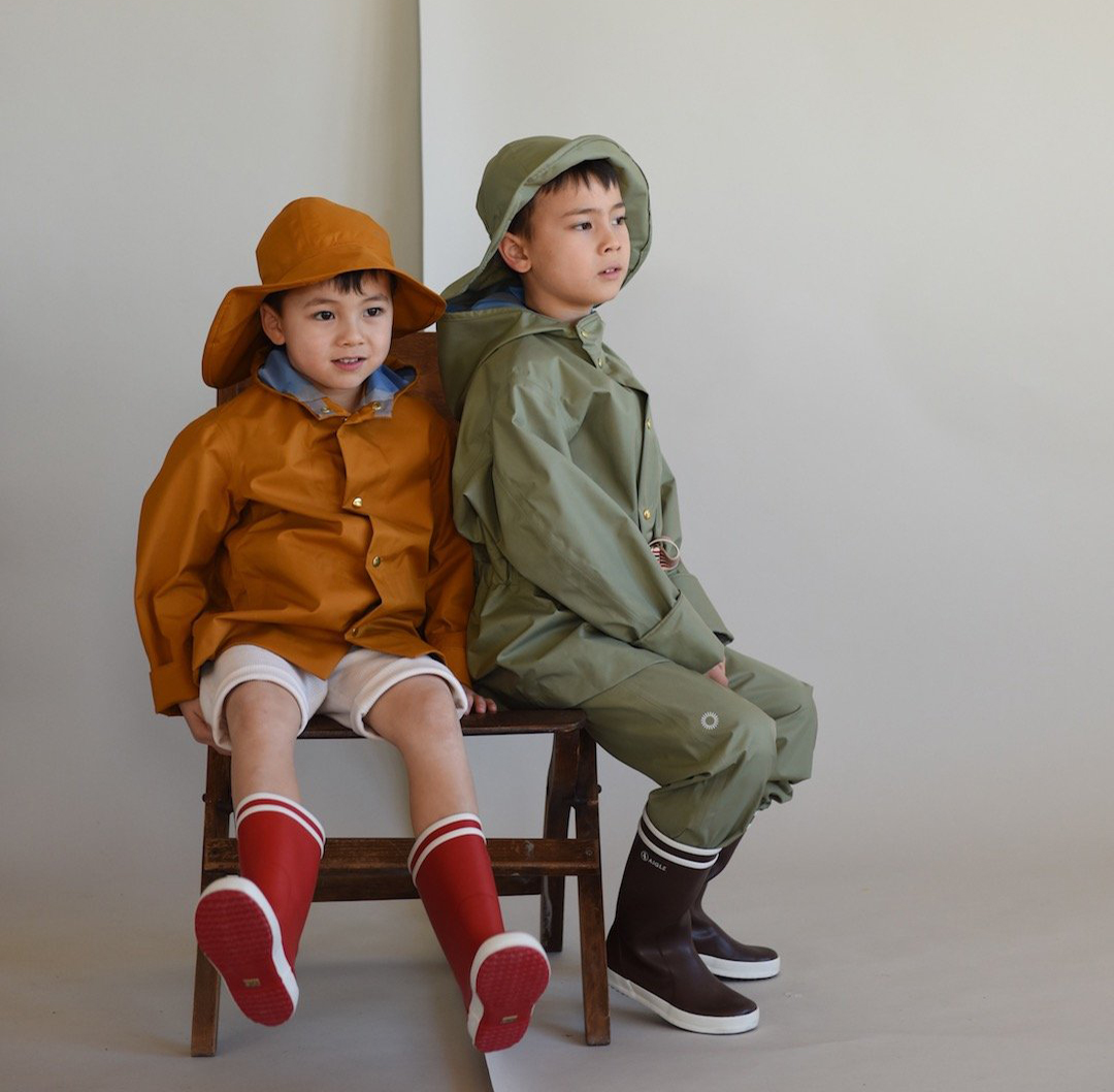 Faire Child Rain Coat and Dungarees