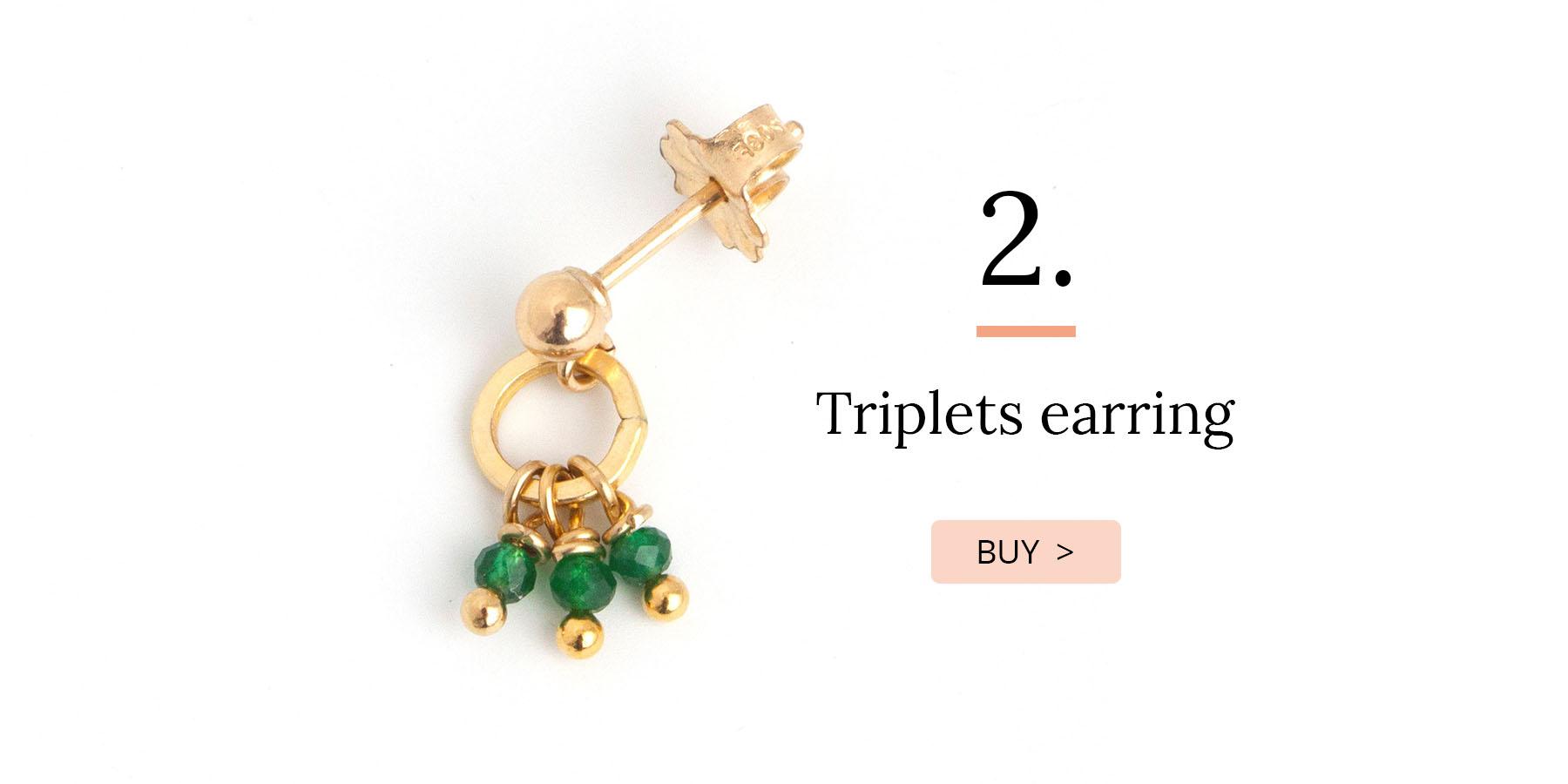 Triplets earring