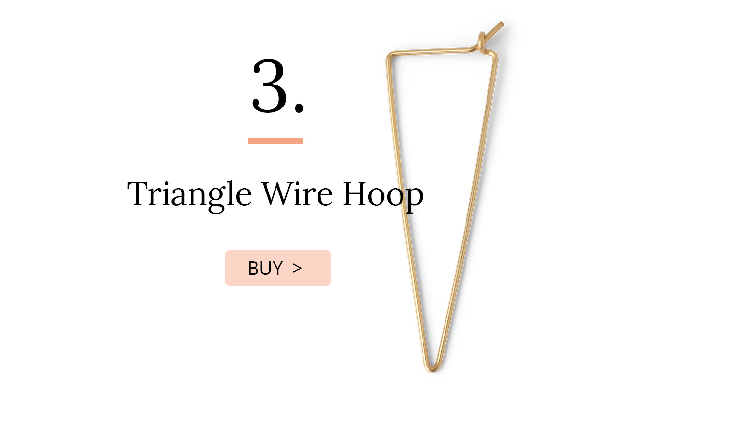 Triangle Wire hoop