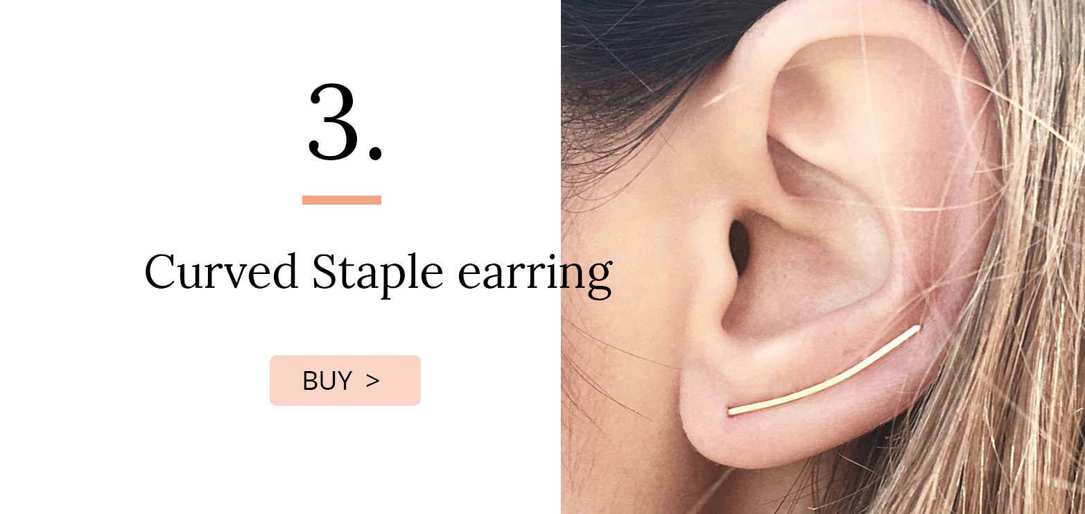Curved Staple earring
