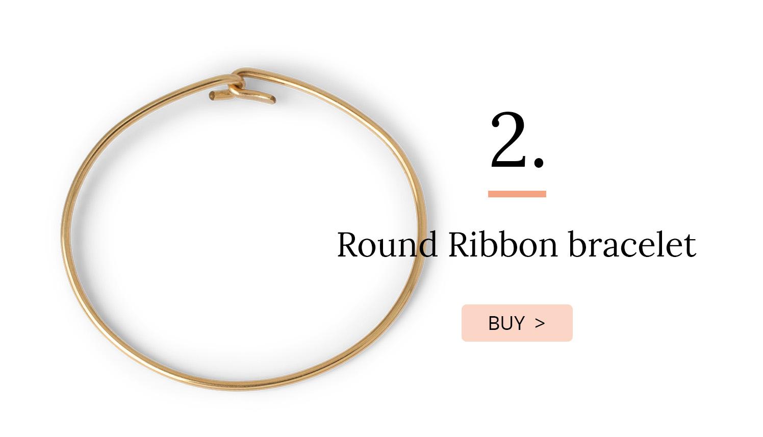 Round Ribbon bracelet