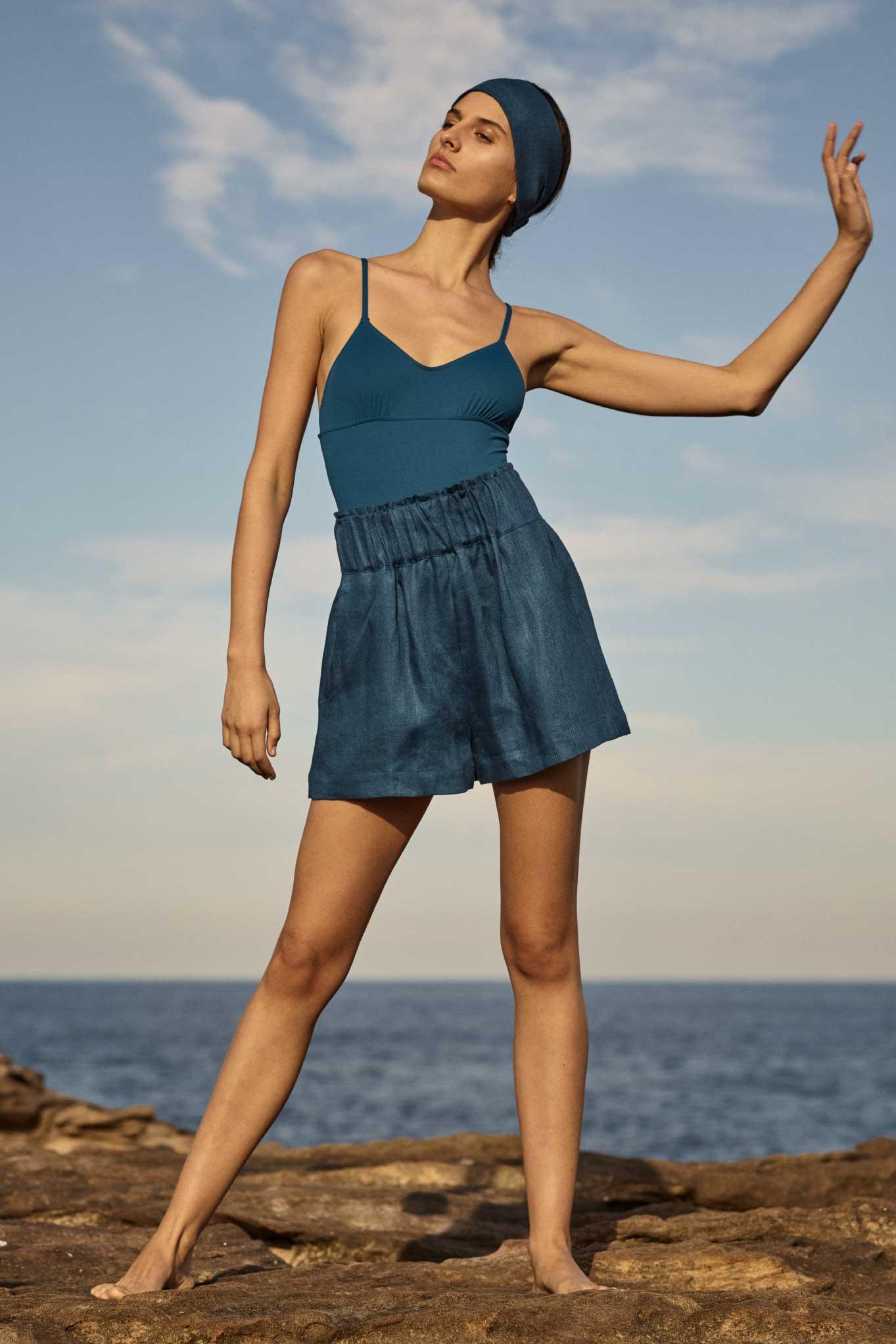 BONDI BORN Australian Designer Swimwear Resort 20 one pieces and bikini tops and bottoms from Knots collection.