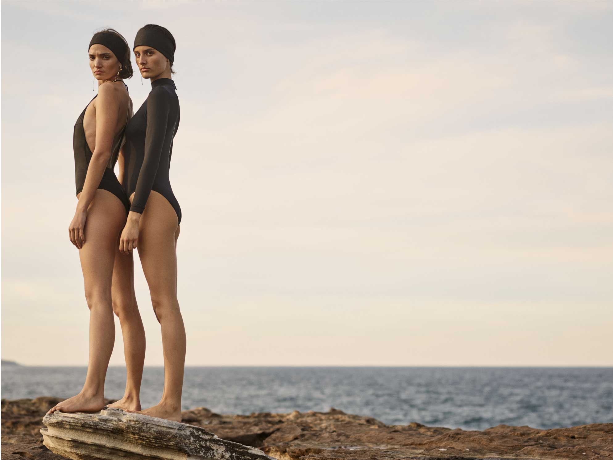 BONDI BORN's Resort 20 Collection debuts our Knots collection of elegant one pieces, bikini tops and bottoms.