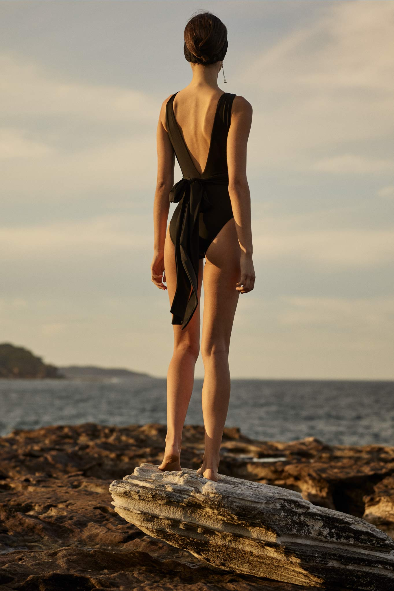 BONDI BORN Australian Designer Swimwear Resort 20 one pieces and bikini tops and bottoms from Knots collection.