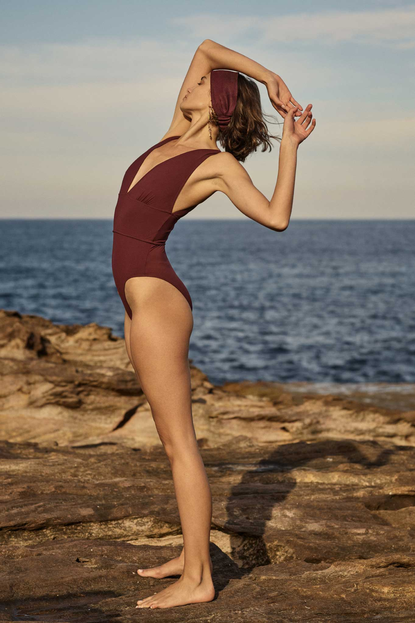 BONDI BORN Luxury Australian Swimwear sustainably made in Australia features Addison One Piece Swimsuit in Pink from Resort 20 Knots collectin.