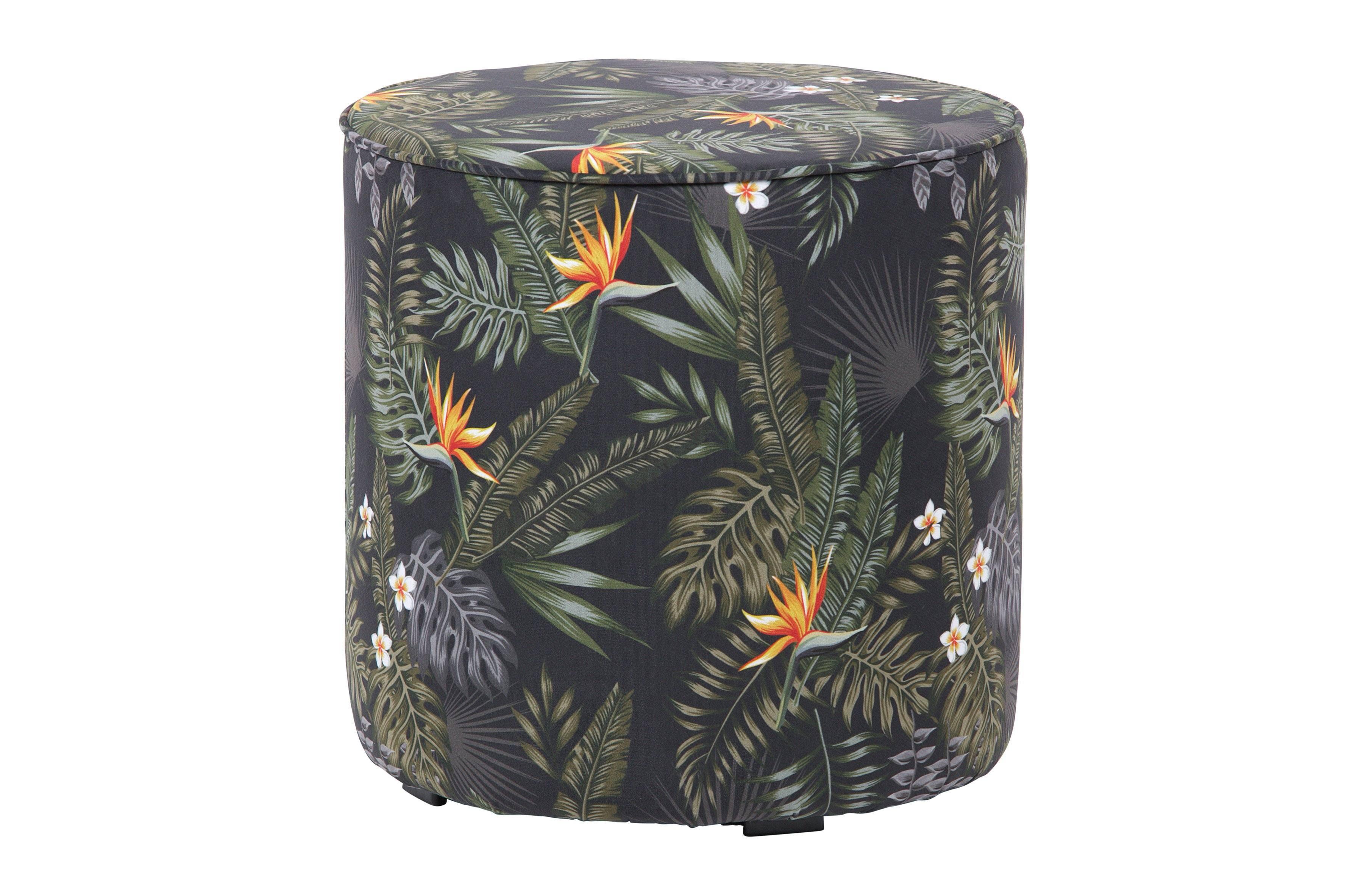 Puf Elise cu imprimeu tropical