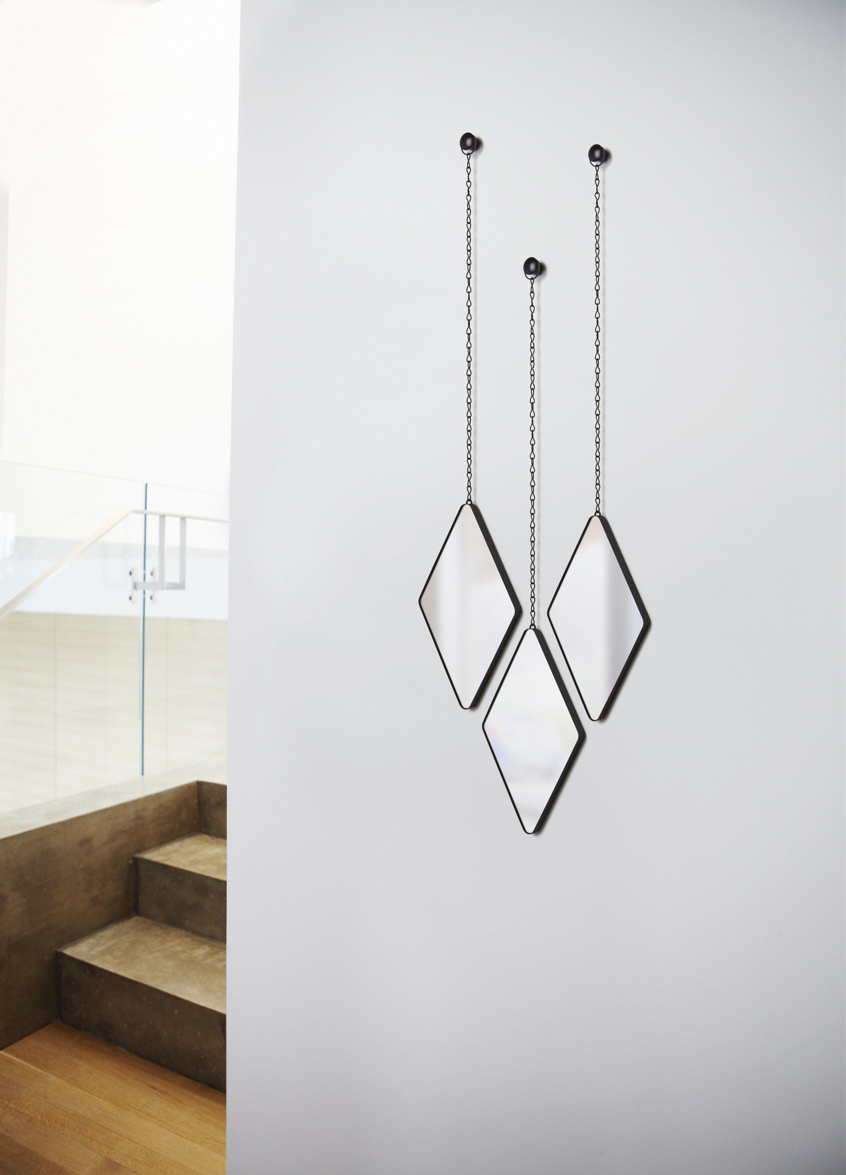 Set 3 Oglinzi decorative Dima Diamond - Black